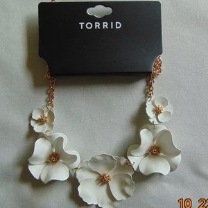 White Matte Floral Statement